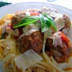 Jamie Oliver meatballs and pasta